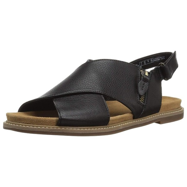 Shop CLARKS Women's Corsio Calm Flat Sandal Free Shipping