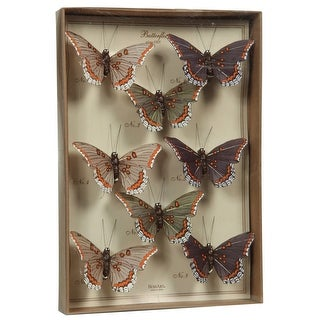 Link to Feather 8 Piece Butterfly Accent Decor with Specimen Box, Purple Similar Items in Accent Pieces