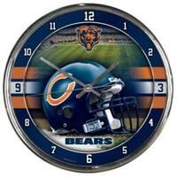 Chicago Bears Round Chrome Wall Clock