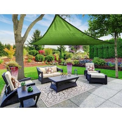 Boen Triangle Sun Shade Sail Canopy Awning UV Block for Outdoor Patio Garden and Backyard - Green - 16'x16'x16'