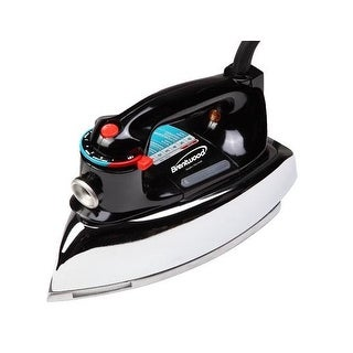 Brentwood Mpi-70 1200 W Classic Non-Stick Steam/Dry Iron In Black