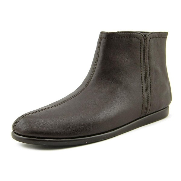 Aerosoles Willingly Women W Round Toe Leather Brown Bootie