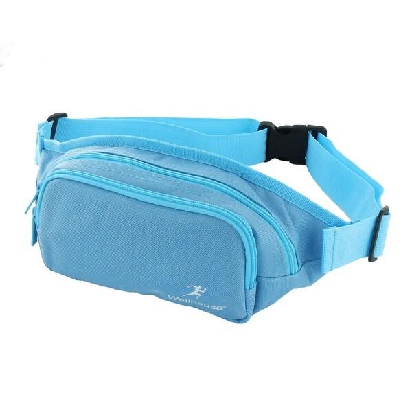 Wellhouse Authorized Running Hiking Keys Holder Adjustable Sports Waist Bag Blue