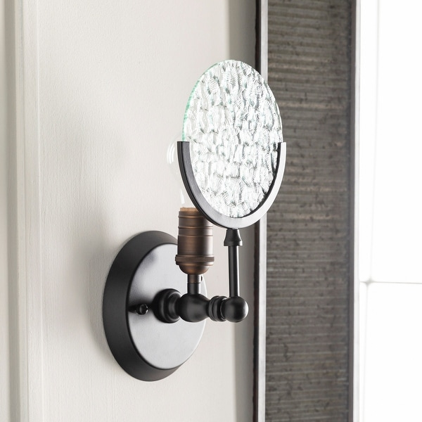 Enslow Antiqued Industrial 1-Light Small Wall Sconce. Opens flyout.