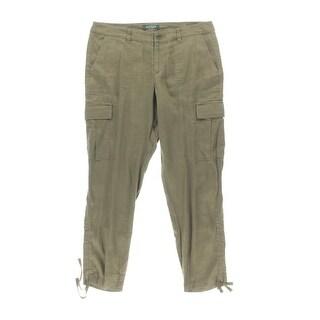 Lauren Ralph Lauren Womens Petites Linen Casual Cargo Pants - 12P