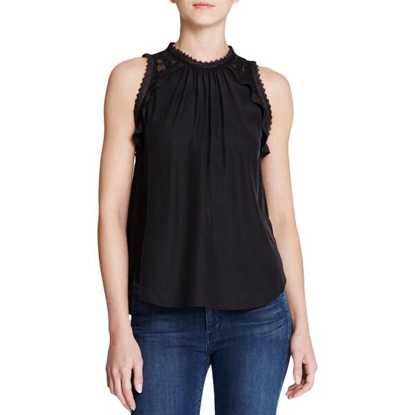 34edb584c1f Shop Rebecca Taylor Womens Blouse Silk Embroidered Yoke - 6 - Free ...