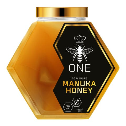 Limited Edition Ultra-Premium ONE MANUKA HONEY 100% New Zealand Certified 20+ MGO 829+ MPC 80+ Artisanal Glass Jar