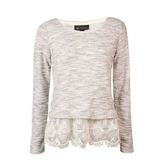 INC International Concepts Women's Lace Terry Sweater