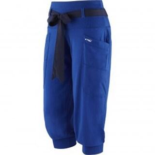 Women's XL Zumba Blue Tri-Me Fame Capri Pants Z1B00245