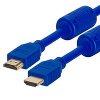 28 AWG High Speed HDMI Cable With Ferrite Cores - 3 Feet Blue