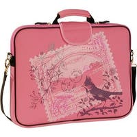 "Laurex Women's 17.3"" Laptop Sleeve Pink Stamp - us women's one size (size none)"