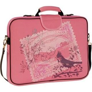 "Laurex Women's 17.3"" Laptop Sleeve Pink Stamp - US Women's One Size (Size None)"