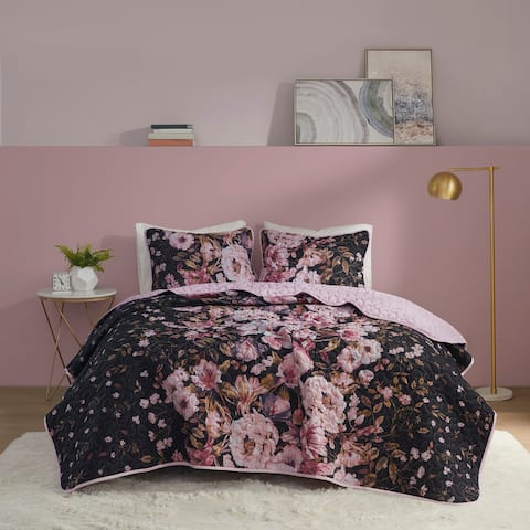 Annabelle Floral Printed Coverlet Set by Intelligent Design