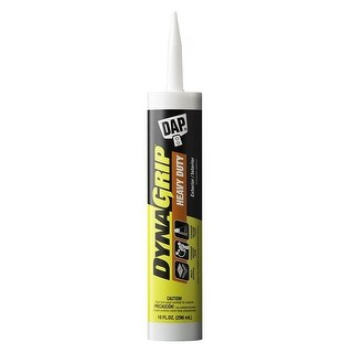 DAP 27509 DynaGrip Heavy Duty Exterior & Interior Construction Adhesive, 10 Oz