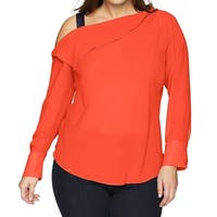 Rachel Rachel Roy Orange Women's Size 14W Plus Chiffon Blouse