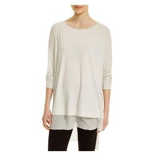 Eileen Fisher Womens Tunic Top Silk Hi-Low