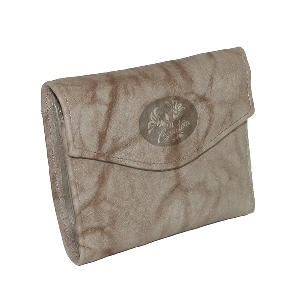 shop buxton women s leather mini trifold wallet with floral emboss
