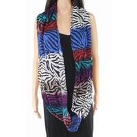 MULTIPLES Scarves Wraps Purple Blue One Size Scarf Zebra Animal Print