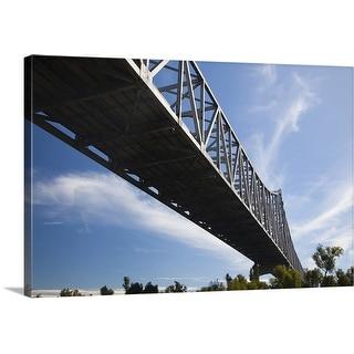 """Mississippi River Bridge, Mississippi River"" Canvas Wall Art"