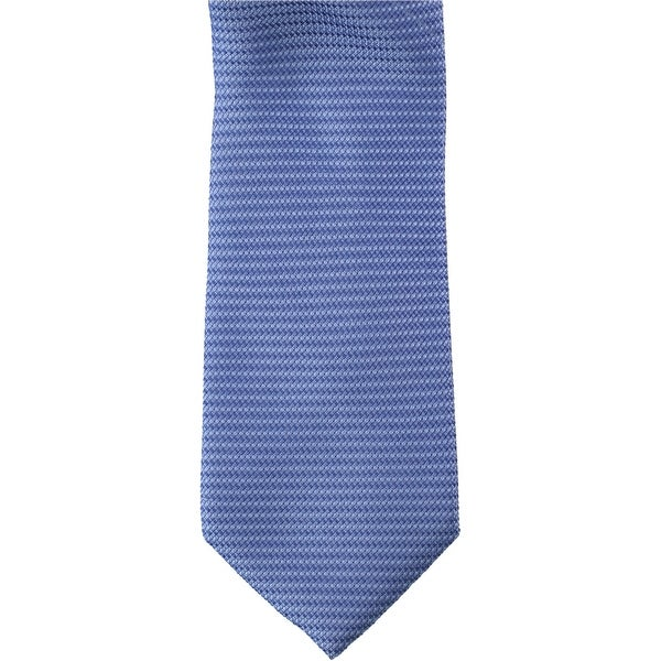 Michael Kors Mens Grenadine Self-tied Necktie, blue, One Size - One Size. Opens flyout.