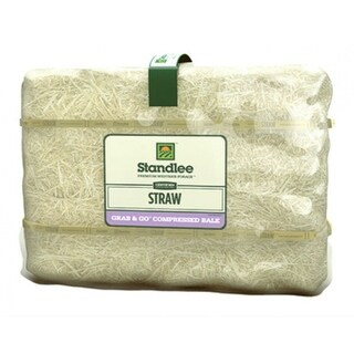 Standlee 1600-20121-0-0 Certified Straw Grab & Go Compressed Bale, 50 Lb