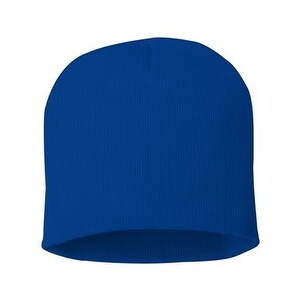 Sportsman 8 Inch Knit Beanie - Royal Blue - One Size