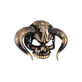 Forum Novelties Taurus Face Masquerade Mask - Black/gold