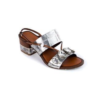 Roberto Cavalli Women's Silver Embellished Crystal Sandals|https://ak1.ostkcdn.com/images/products/is/images/direct/a14f43e8459793c1df7bb98e25668deaf2713c7f/Roberto-Cavalli-Women%27s-Silver-Embellished-Crystal-Sandals.jpg?impolicy=medium