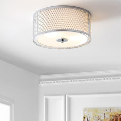 SAFAVIEH Lighting Braydon Chrome LED Flush Mount