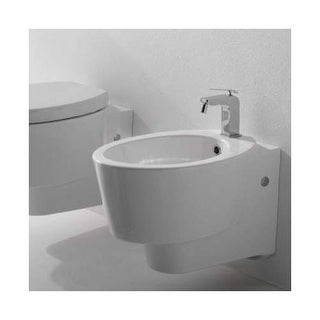 Scarabeo by Nameeks 2007 Wish Single Handle Wall Mounted Ceramic Bidet - Bowl On