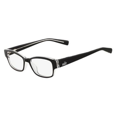 Nike Eyeglasses 5527-001 Black Crystal with Demo Lens - Black/Crystal - 46-15-130