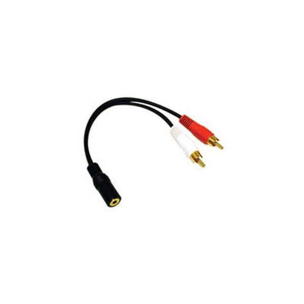 Cables To Go 40424 3.5Mm Stereo Female To Rca Male Y-Cable