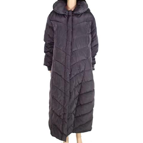 Steve Madden Womens Jacket Purple Size 3X Plus Puffer Hooded Parka