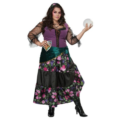 Womens Mystical Charmer Plus Size Gypsy Costume
