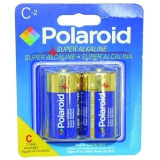 Polaroid 2 Pack C Alkaline Battery