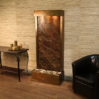 Adagio Harmony River Fountain - Flush Mount - Rustic Copper - Choose Options (Option: Marble)|https://ak1.ostkcdn.com/images/products/is/images/direct/a1515c6b5cce991d07a98b575bb1f423334ddb49/Adagio-Harmony-River-Fountain---Flush-Mount---Rustic-Copper---Choose-Options.jpg?impolicy=medium