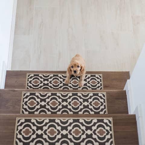 Modern Moroccan Trellis Non-Slip Stair Treads