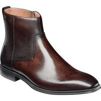 Florsheim Men's Belfast Plain Toe Side Zip Boot Brown Leather