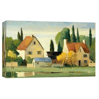 """PTM Images 9-102019  PTM Canvas Collection 8"""" x 10"""" - """"Town & Country VII"""" Giclee Rural Art Print on Canvas"""