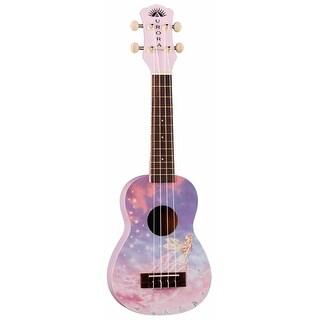 Luna Aurora Soprano Ukulele (Cotton Candy Pink, Fairy)