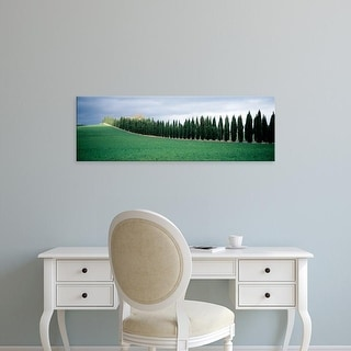 Easy Art Prints Panoramic Images's 'Trees, Tuscany, Italy' Premium Canvas Art