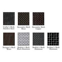 "Amaco - Woven WireForm - Sheet - 16"" x 20"" - Modeler's Matte Black Aluminum Mesh - 8 Sq./In., 1/Sht."