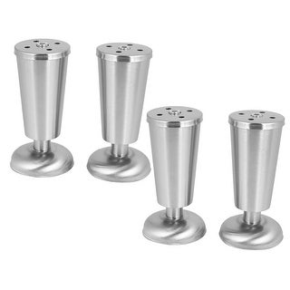 Furniture Cabinet Table Metal Tapered Shape Adjustable Leg Feet 50mmx120mm 4pcs