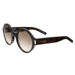 Saint Laurent SL 63-004 Havana Round Sunglasses