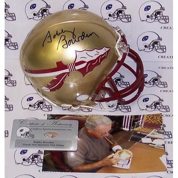 Bobby Bowden Autographed Hand Florida State Seminoles Mini Helmet