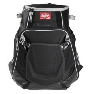 Rawlings Velo Baseball Backpack Players Bag Laptop Pocket Holds 2 Bats VELOBK