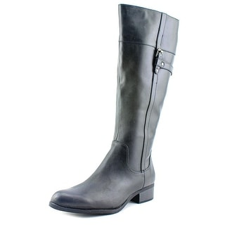 Easy Spirit Domina Wide Calf Women W Round Toe Leather Knee High Boot