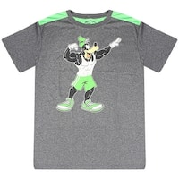 Disney Strong Goofy Performance Active Showing Biceps Men's Green T-shirt