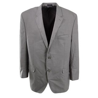Sean John Mens Woven Heathered Two-Button Blazer - 50L