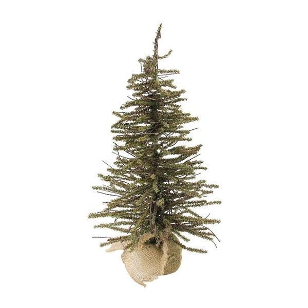 "18"" Warsaw Twig Artificial Christmas Tree in Burlap Base - Unlit"